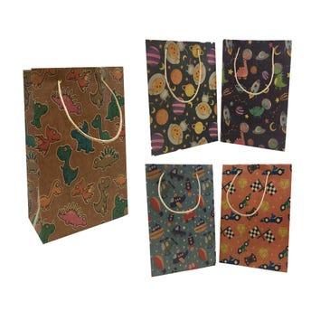 Bolsa para regalo vertical KRAFT para niño, modelos surtidos, 36 x 22 x 11 cm aprox