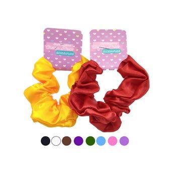 Dona para cabello textil, colores metálicos surtidos, 10 cm aprox.
