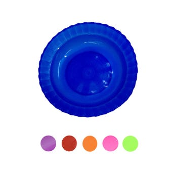 Plato sopero redondo, colores translúcidos surtidos, 375 ml, 21 x 4 cm