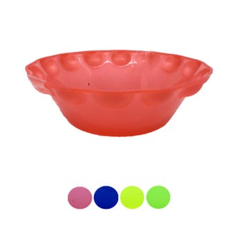 Plato pozolero liso, colores translúcidos surtidos, 700 ml, 18 x 6 cm