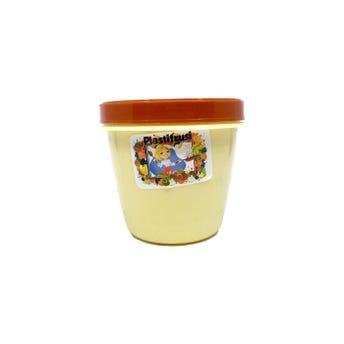 Topper con taparrosca decorado, café, 10.5 x 10 cm.