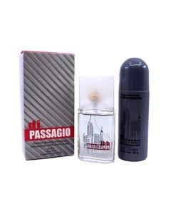 Perfume fragancia para caballero con desodorante, DI PASSAGIO JADE, 30 ml y 90 grs.