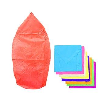 Globo de cantoya jumbo inner por color sujeto a disponibilidad 80 x 30 cm.