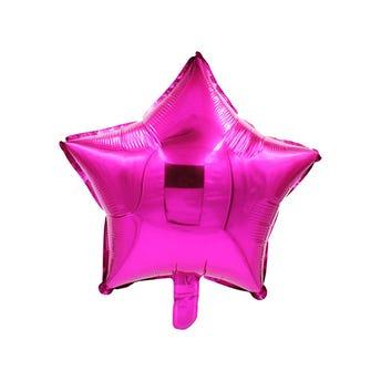 Globo estrella rosa fiucshia, 43 X 43 cm.