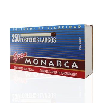 Cerillo Fosforo De Madera Extralargo Gran Monarca 250 Pz 6 Cm