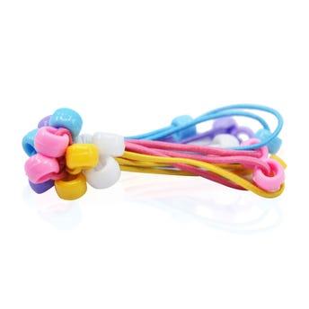 Coletero para cabello en paquete con 10 pz, pastel, 7 cm