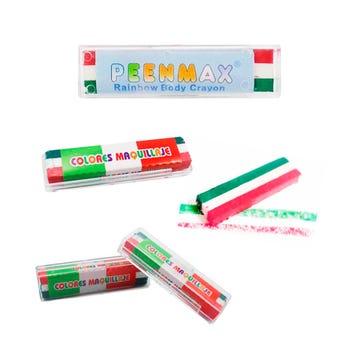 Maquillaje tricolor en barra PEENMAX  con estuche de acrilico 6.5 X 1.5 cm