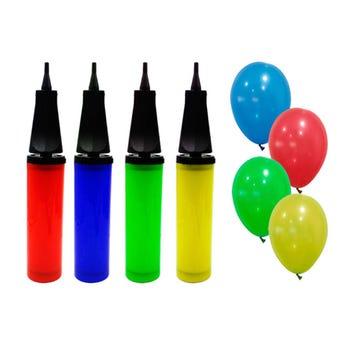 Bomba para inflar, colores surtidos, 29 X 5 cm.