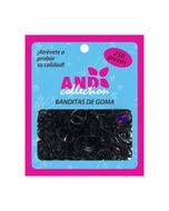 Liga para cabello de húle AND, bolsa con 250 pz, negro.