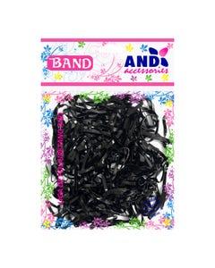 Liga para cabello de látex TPU AND, bolsa con 200 pz, negro.