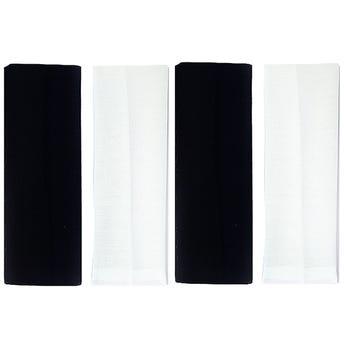 Valerina para cabello ancha, blanco y negro, 7 cm