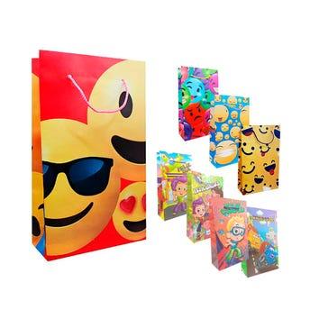 Bolsa para regalo de niño surtida mediana, 15.5 X 26.5 cm
