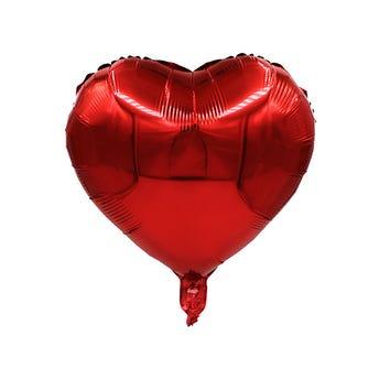 Globo corazón rojo, 43 X 43 cm