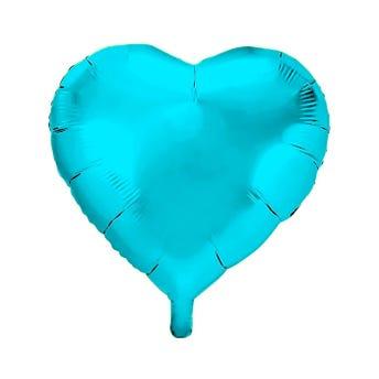 Globo Corazón Azul Pastel, 45 X 45 Cm