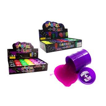 Juguete moco barril de broma pegajosa, colores surtidos, 37 grs, 4.5 cm.