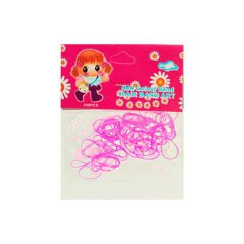 Liga látex para cabello NEW COLOUR, color rosa combinado, 110 Pz.