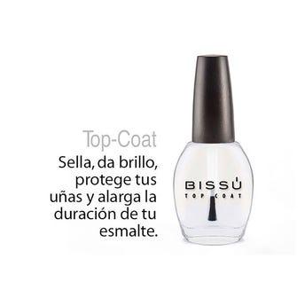 Esmalte mini Tratamiento Básico Top Coat, BISSU, 5 ml.