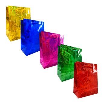 Bolsa para regalo de holograma colores surtidos, 11.5 X 14.5 cm aprox.