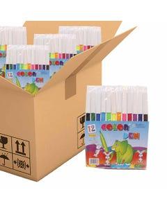 Plumines en paquete con 12 pz, COLOUR PEN, colores surtidos, 12.5 cm, POR CAJA.