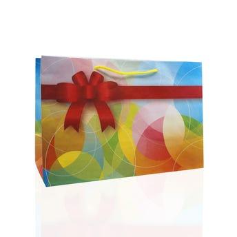 Bolsa para regalo MOÑOS horizontal, colores surtidos, 28.5 X 19 cm.
