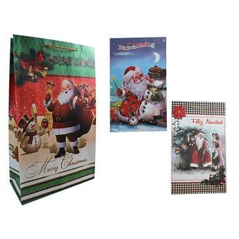 Bolsa Para Regalo Jumbo Santa De  Navidad 23 X 37 X 10 Cm