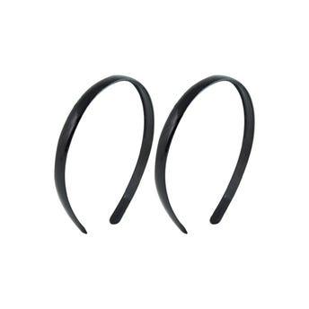 Diadema lisa delgada negra, 1.3 cm.