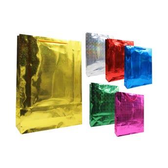 Bolsa para regalo de holograma, colores surtidos, 33 X 26 X 8 cm.