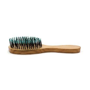 Cepillo de madera en forma de raqueta, colores surtidos, 20 cm.