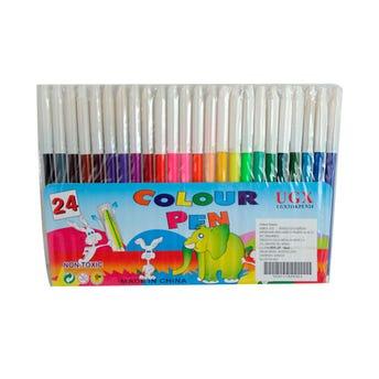Paquete con 24 plumines, COLOUR PEN, colores surtidos.