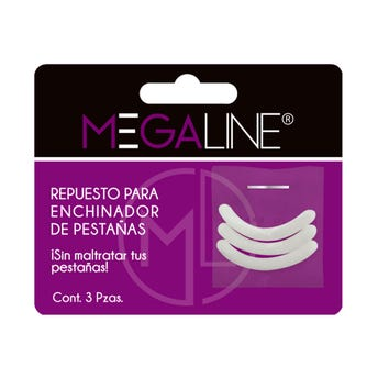 Repuesto de húle para enchinador, Megaline, bolsa con 3 pz, blanco.
