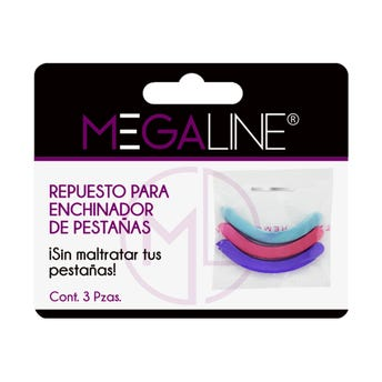 Set De 3 Repuestos  De Hule Para Enchinador Megaline, Colores Surtidos