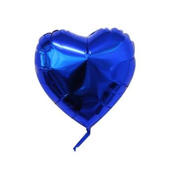 Globo Corazon Azul Rey 43 X 43 Cm