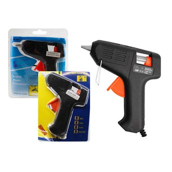 Pistola para silicón, color negro 10 X 11 cm