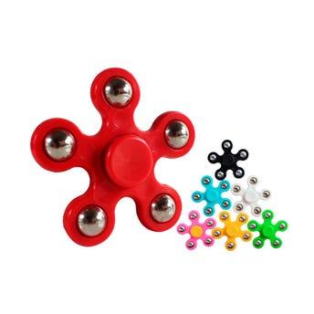 Trompo De Mano Spiners Flor 6.5 Cm, Colores Sujetos A Disponibilidad