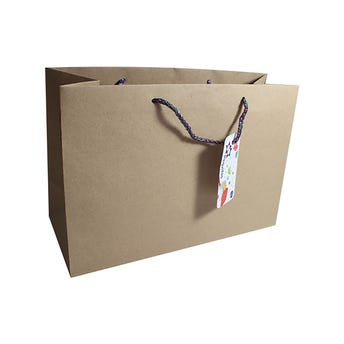 Bolsa para regalo KRAFT JUMBO horizontal, 29.5 X 20 cm