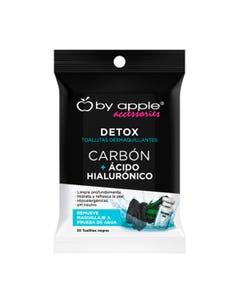 Toallita desmaquillante by apple con 30 pz, con carbón y ácido hialurónico