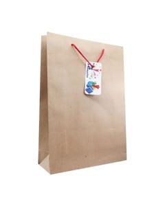 Bolsa para regalo KRAFT jumbo, 43 X 32 X 10 cm
