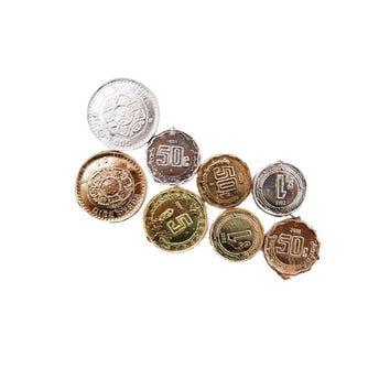 Monedas didácticas, bolsa con 7 pz.
