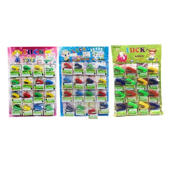 Mini engrapadora 4.5 x 1.5 cm colores surtidos, incluye caja de grapas No. 10