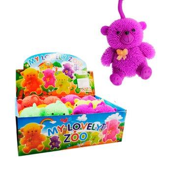 Yoyo oso con luz, colores surtidos,  9 X 8 cm.