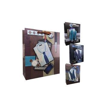 Bolsa Para Regalo Para Caballero Combinación # 01,  26 X 32 Cm