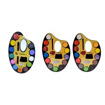 Acuarela De 12 Colores Con Pincel, 22 X 15 Cm