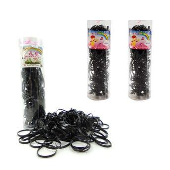 Liga de látex tpu en tubo con 150 Pz, color negro.