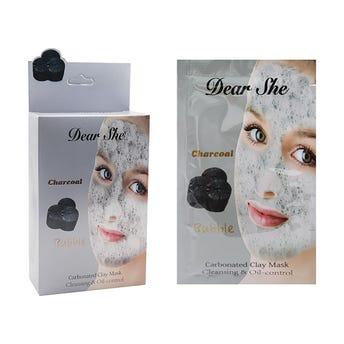 Mascarilla facial de arcilla carbonatada, para una piel libre de imperfecciones, 12 grs.