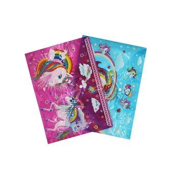 Folder De Plástico Decorado De Unicornios, Modelos Surtidos, 35 X 25 Cm
