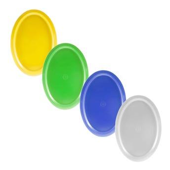 Plato Trinche Liso, Colores Surtidos, 28 X 19.5 X 1 Cm