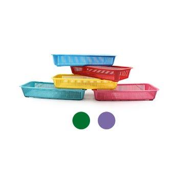 Canastilla de colores surtidos, 30.5 X 14 X 5 cm