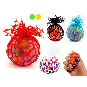 Pelota cerebro con esferas de hidrogel de colores, inner por color sujeto a disp, 5 cm.