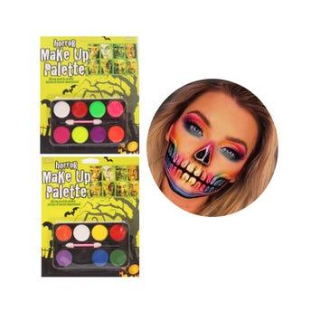 Maquillaje Con 8 Pastillas Con Aplicador, Halloween, 12 X 7 Cm.