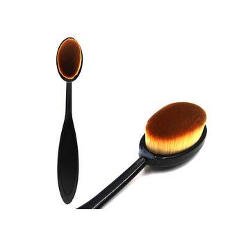 Brocha aplicadora profesional, tipo cuchara color negro, 15 cm aprox.